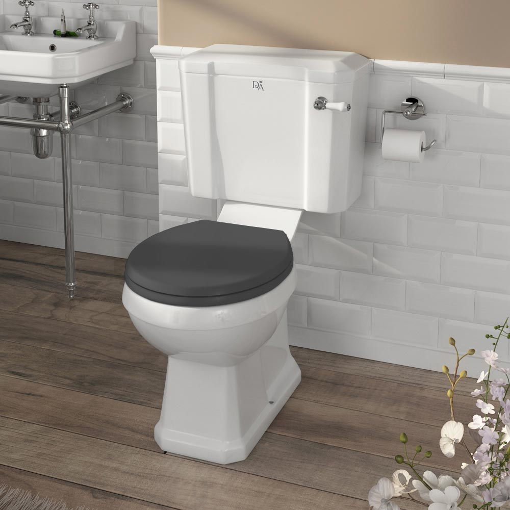 Downton Abbey Carlton Close Coupled Toilet + Soft Close Seat profile large image view 6