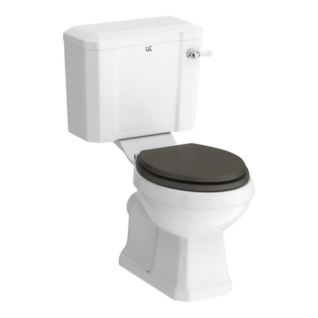 Downton Abbey Carlton Close Coupled Toilet + Soft Close Seat