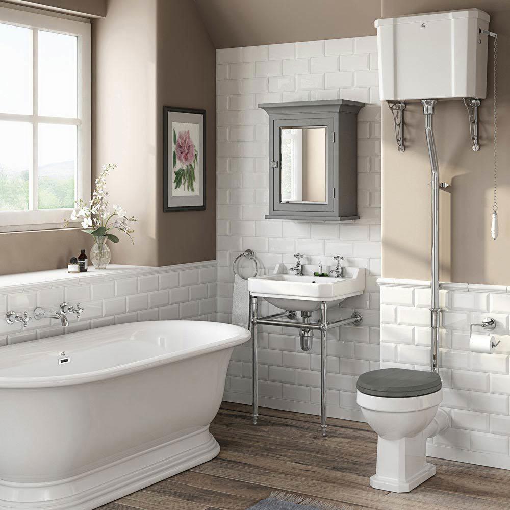 Downton Abbey Carlton High Level Toilet + Soft Close Seat profile large image view 2