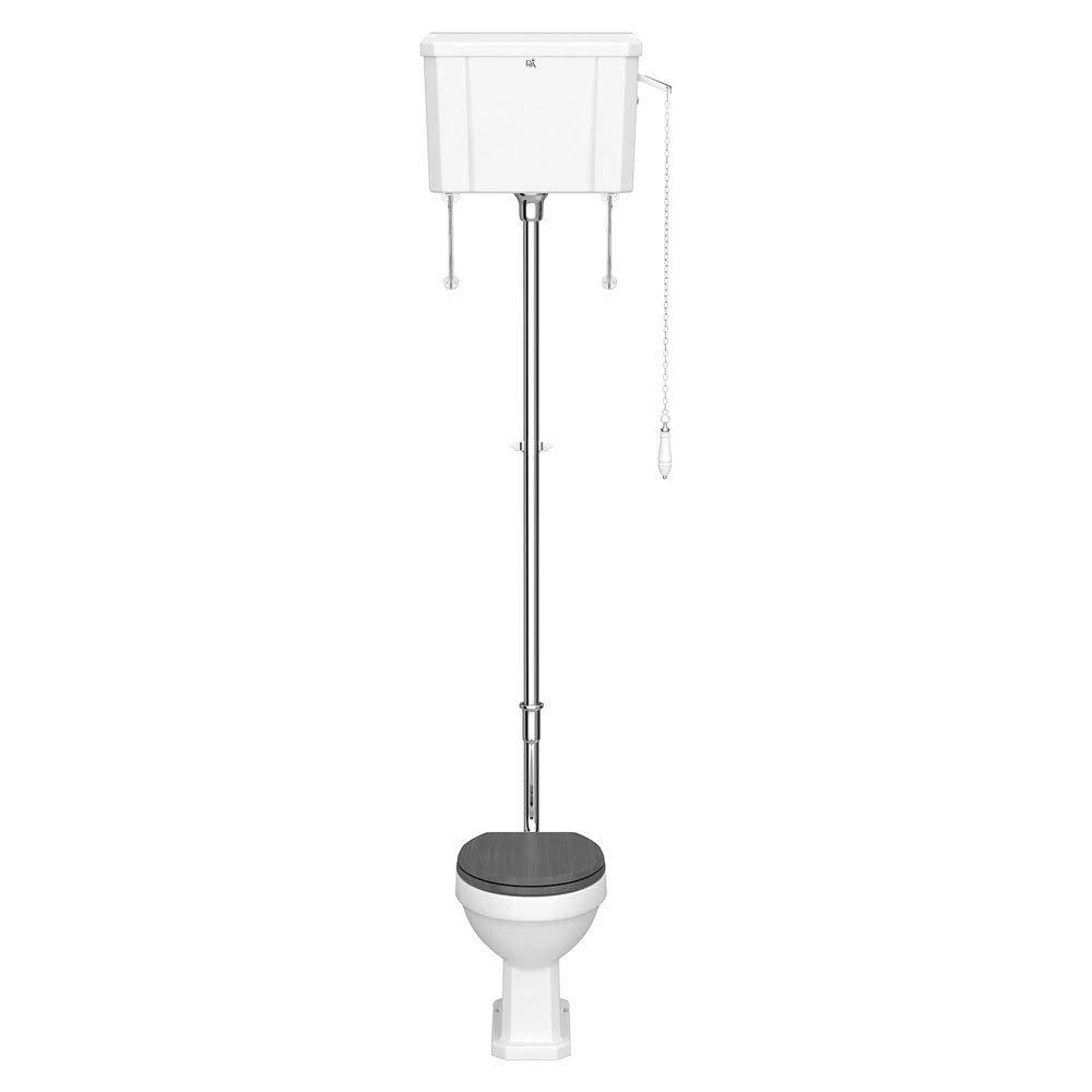 Downton Abbey Carlton High Level Toilet + Soft Close Seat Large Image