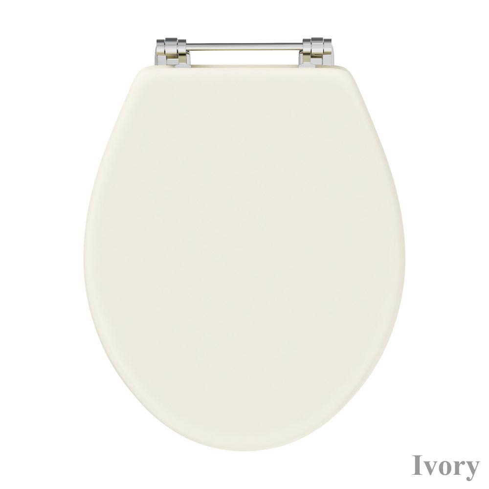 Downton Abbey Carlton Low Level Toilet with Soft Close Seat profile large image view 4