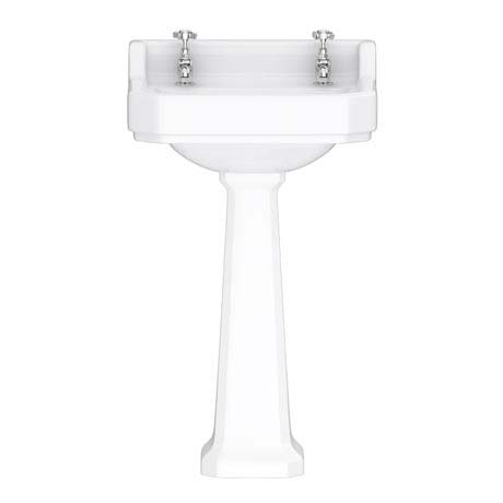 Downton Abbey Carlton Traditional Basin & Pedestal - 500mm Wide