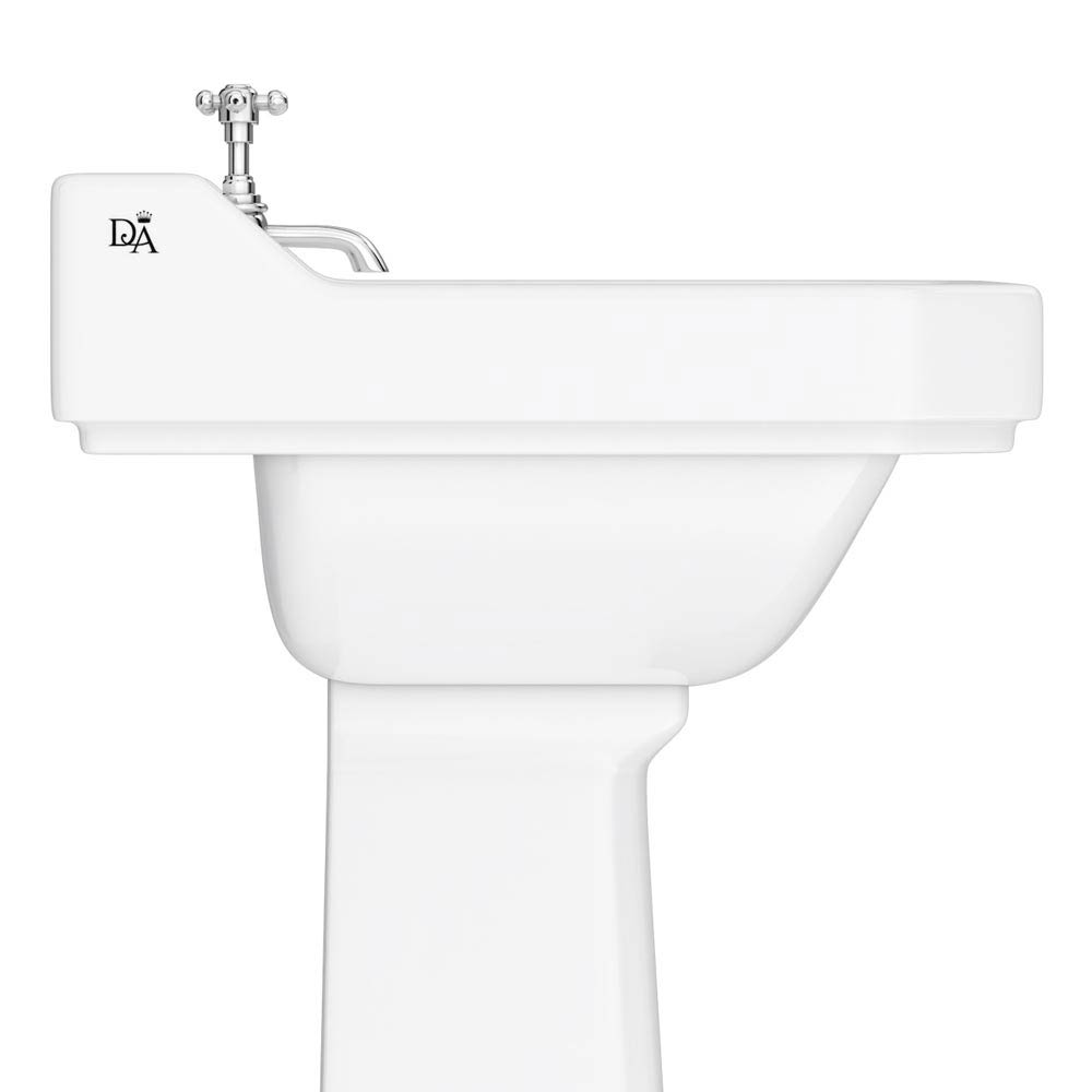 Downton Abbey Carlton Traditional Basin & Pedestal - 595mm Wide profile large image view 2
