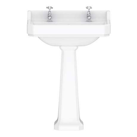 Downton Abbey Carlton Traditional Basin & Pedestal - 595mm Wide