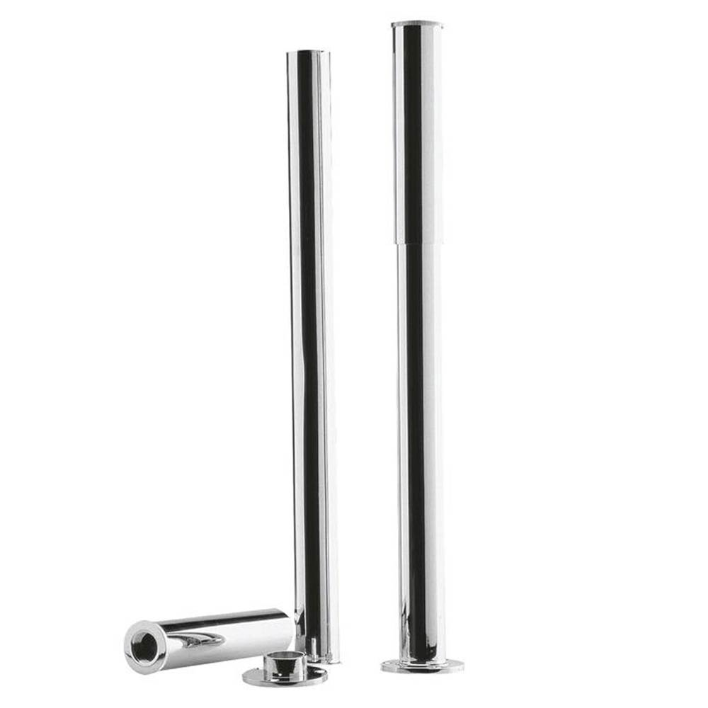 Downton Abbey Chrome Bath Legs with Adjustable Shrouds profile large image view 1