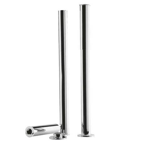 Downton Abbey Chrome Bath Legs with Adjustable Shrouds