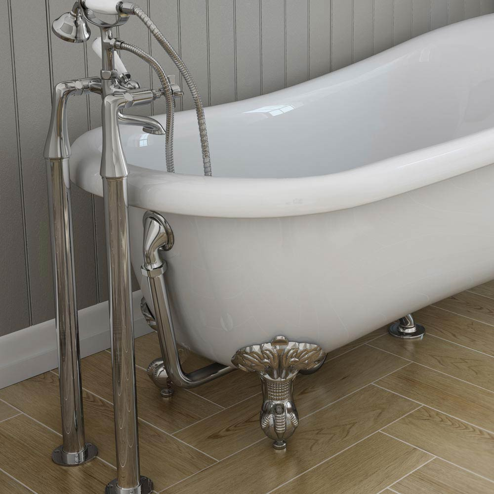 Downton Abbey Chrome Standpipes Free Standing Legs Profile Large Image