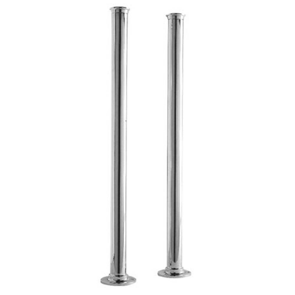 Downton Abbey Chrome Standpipes Free Standing Legs Large Image