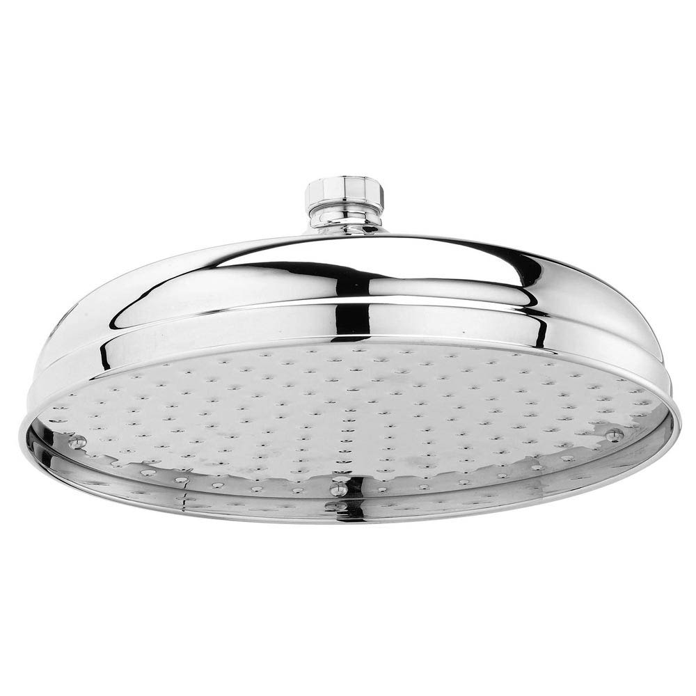 """Downton Abbey Chrome Traditional 12"""" Apron Fixed Shower Head Large Image"""
