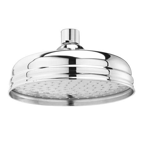 "Downton Abbey Chrome Traditional 8"" Apron Fixed Shower Head"