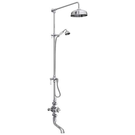 Downton Abbey Chrome Traditional Exposed Shower with Spout