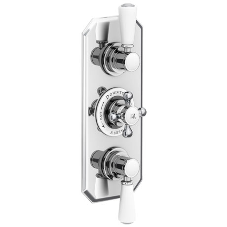 Downton Abbey Chrome Traditional Triple Concealed Shower Valve