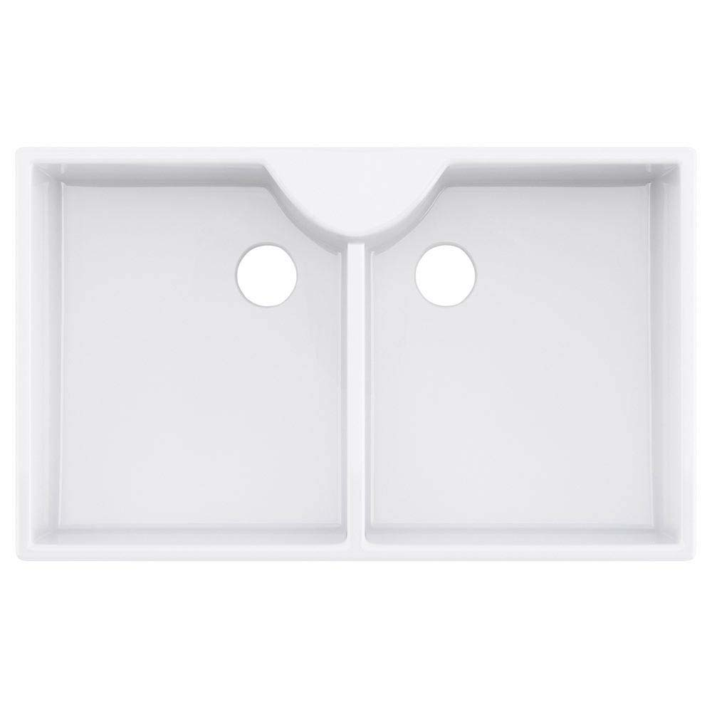 Downton Abbey Double Butler Kitchen Sink - W895xD500mm - DAFC910 profile large image view 2