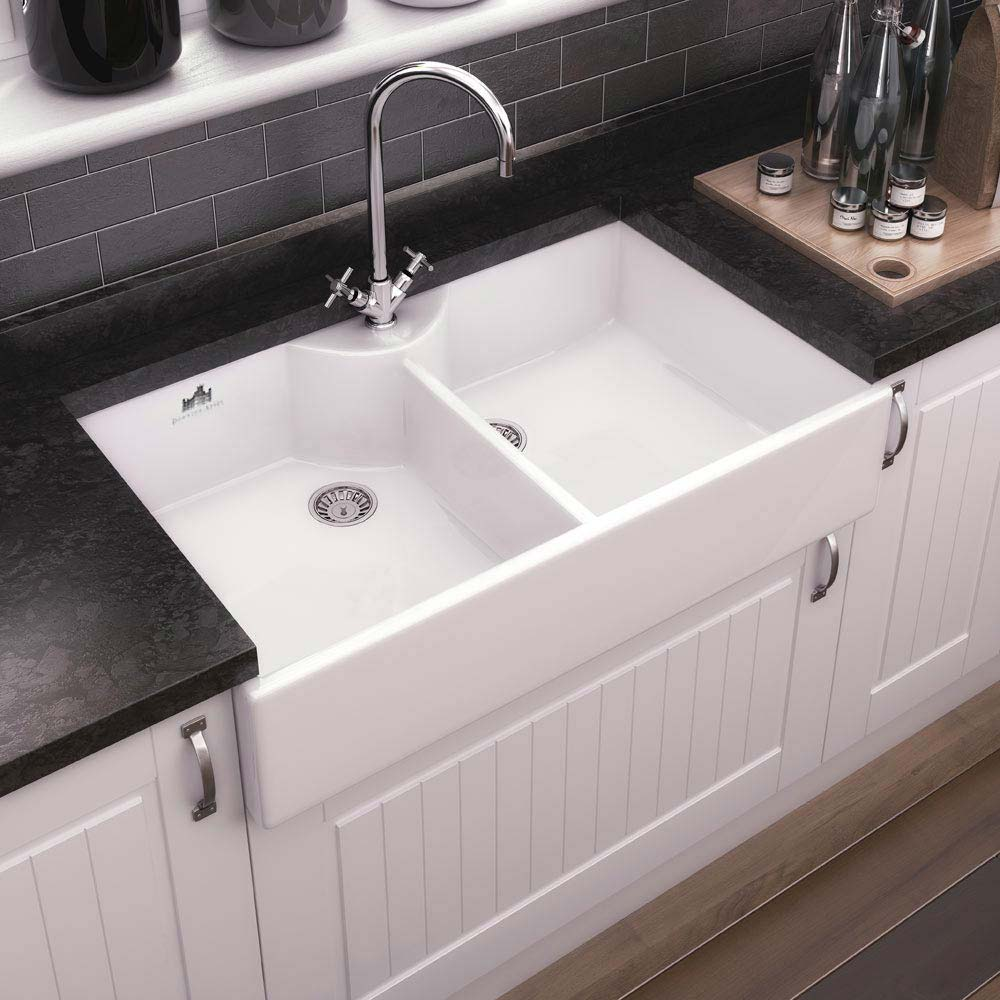 Downton Abbey Double Butler Kitchen Sink - W895xD500mm - DAFC910  Feature Large Image