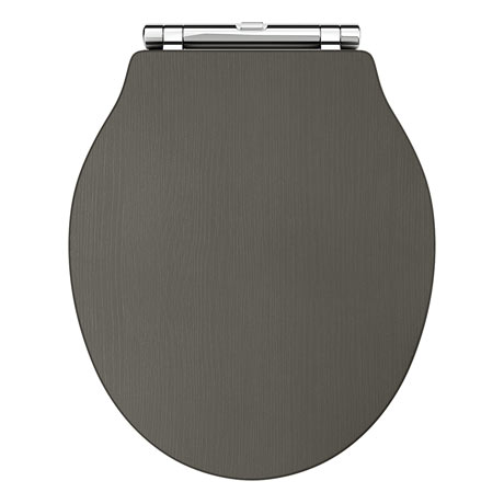 Downton Abbey Ryther Charcoal Wooden Soft Close Toilet Seat