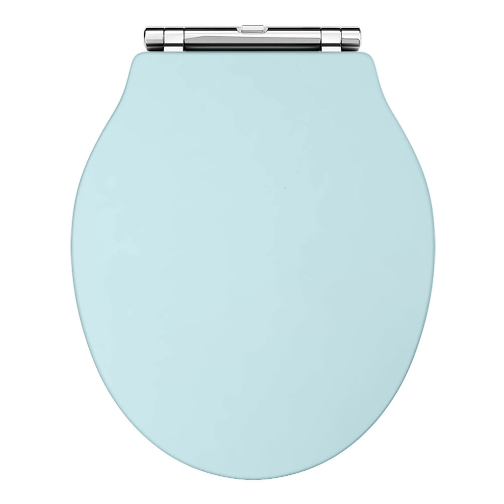 Downton Abbey Ryther Duck Egg Blue Wooden Soft Close Toilet Seat - DAS798