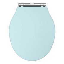 Downton Abbey Ryther Duck Egg Blue Wooden Soft Close Toilet Seat Medium Image