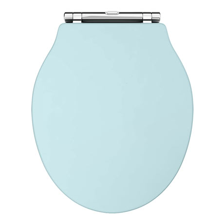 Downton Abbey Ryther Duck Egg Blue Wooden Soft Close Toilet Seat