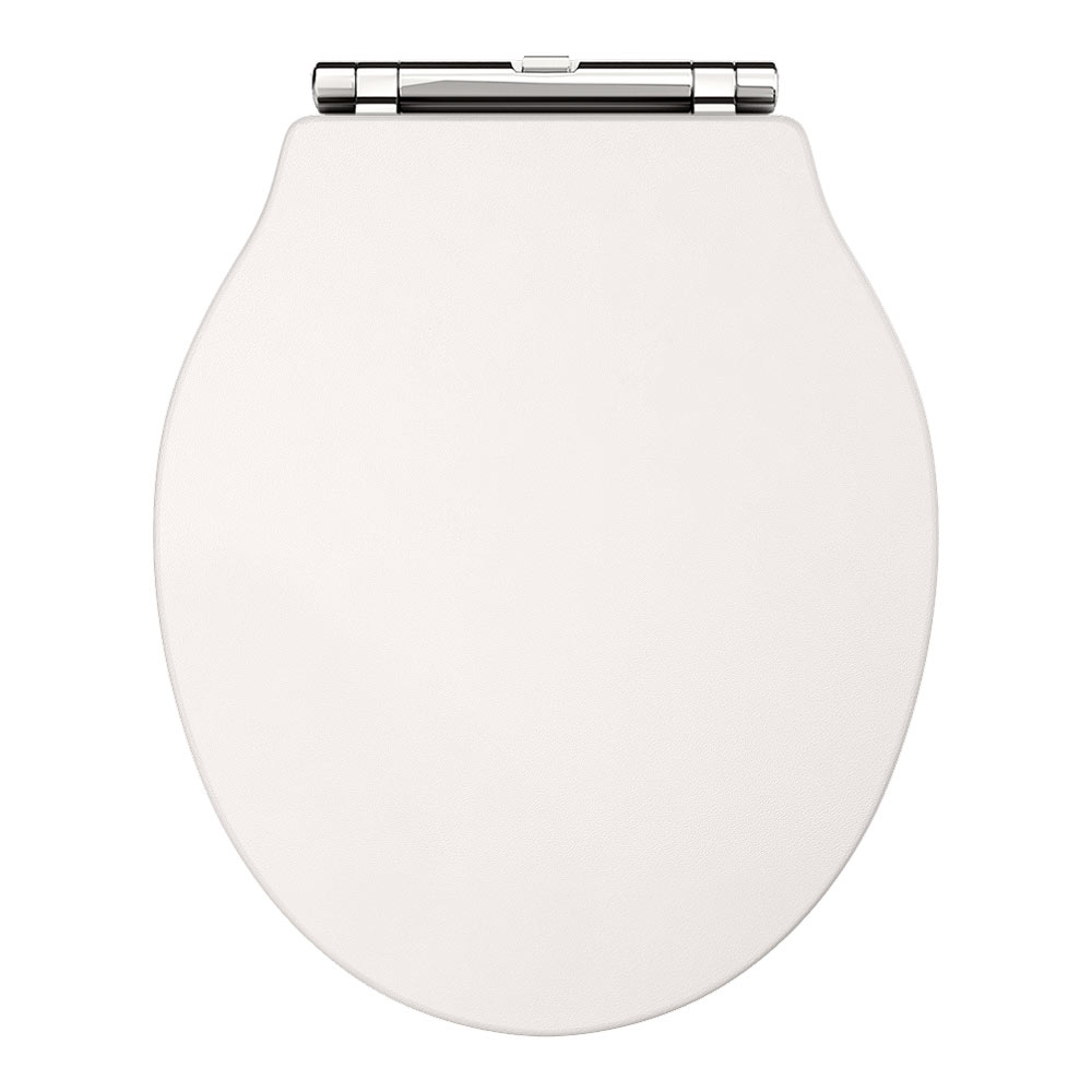 Downton Abbey Ryther Ivory Wooden Soft Close Toilet Seat - Soft close wooden toilet seat