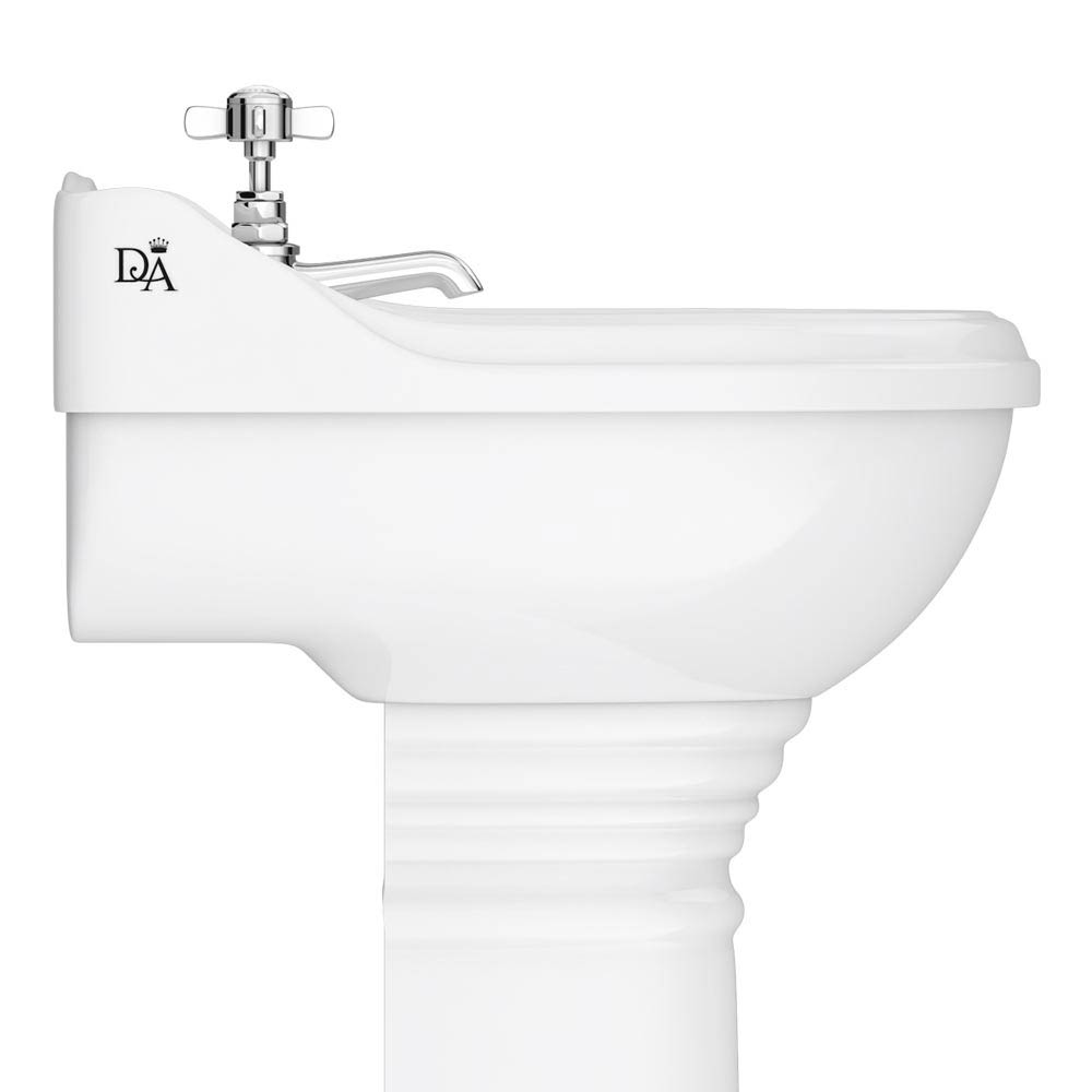 Downton Abbey Ryther Traditional Basin & Pedestal - 500mm Wide profile large image view 2