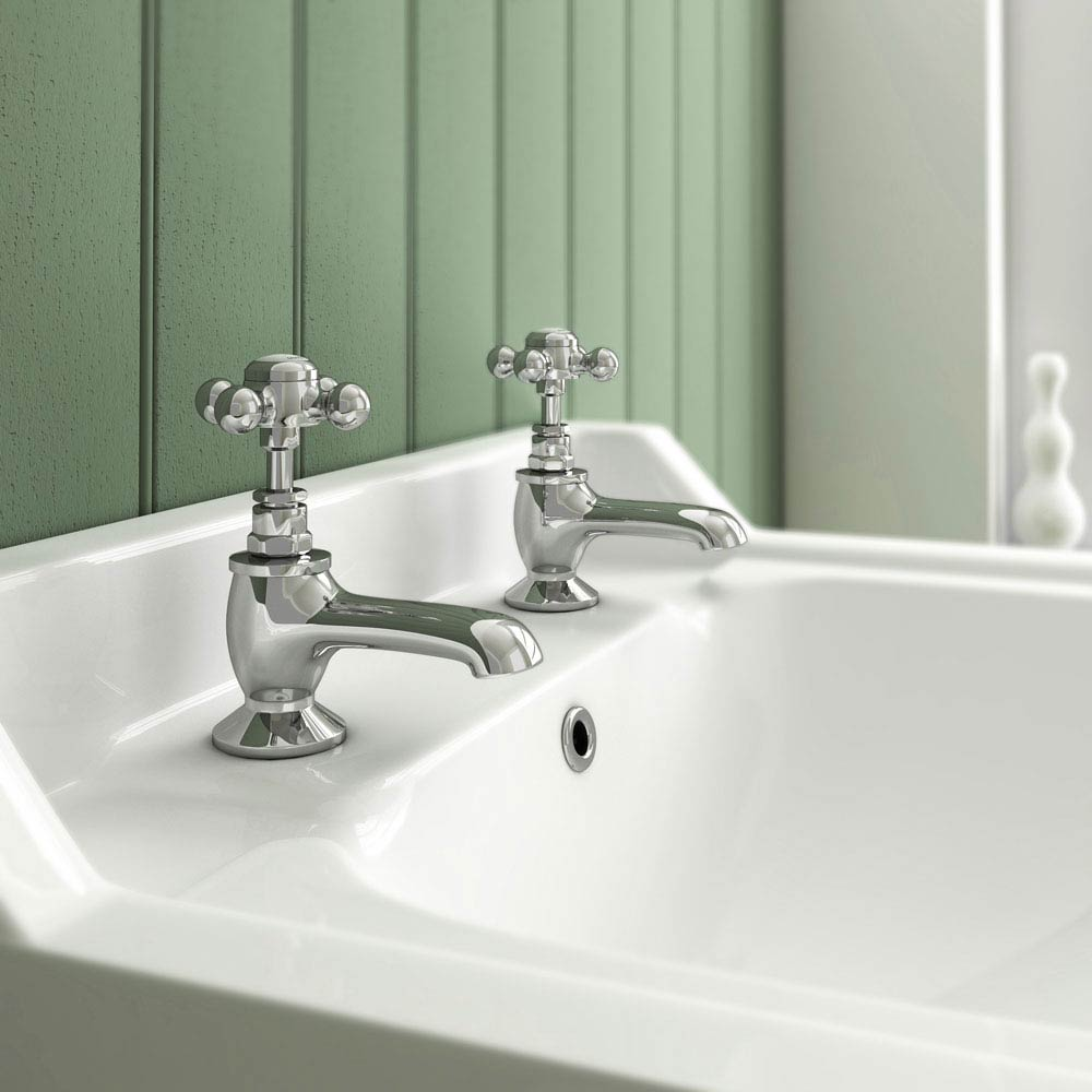 Downton Abbey Traditional Basin Taps - Chrome Feature Large Image