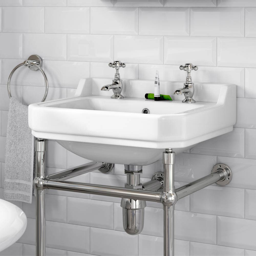 Downton Abbey Traditional Basin Taps - Chrome Standard Large Image