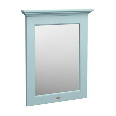 Downton Abbey Traditional Mirror (600mm Wide - Duck Egg Blue)