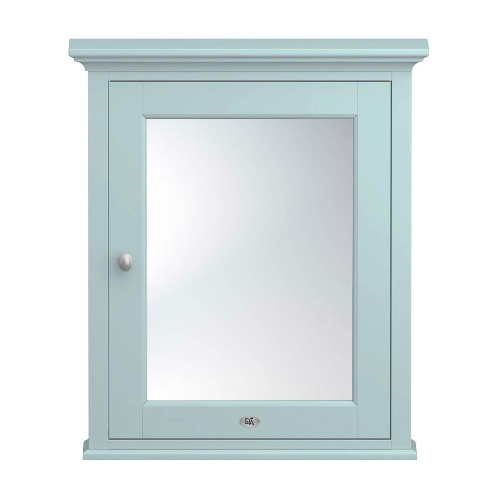 Downton Abbey Traditional Mirror Cabinet (650mm Wide - Duck Egg Blue) Large Image
