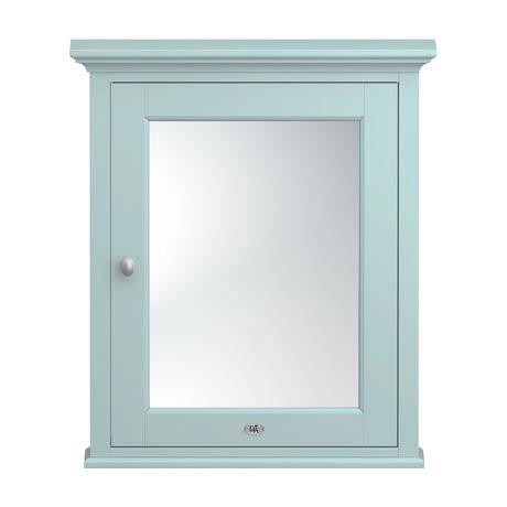 Downton Abbey Traditional Mirror Cabinet (650mm Wide - Duck Egg Blue)