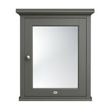 Downton Abbey Traditional Mirror Cabinet (650mm Wide - Charcoal) Medium Image