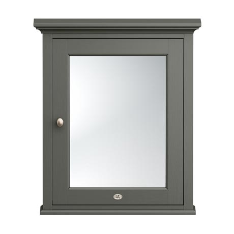 Downton Abbey Traditional Mirror Cabinet (650mm Wide - Charcoal)