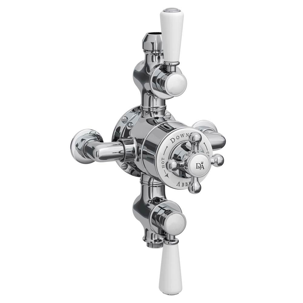 Downton Abbey Triple Exposed Thermostatic Shower Valve Large Image