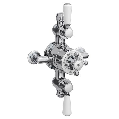 Downton Abbey Triple Exposed Thermostatic Shower Valve