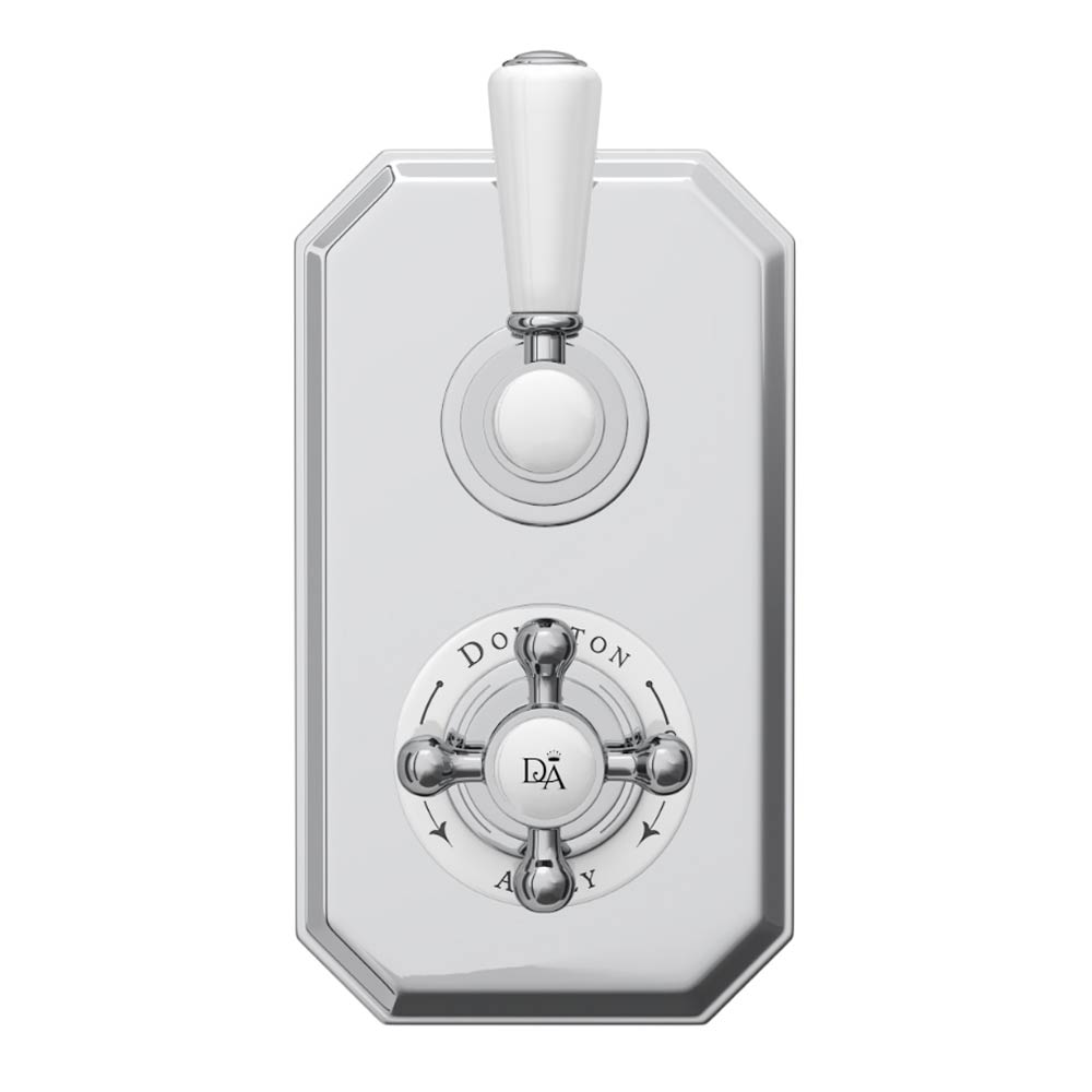 Downton Abbey Twin Concealed Thermostatic Shower Valve profile large image view 2