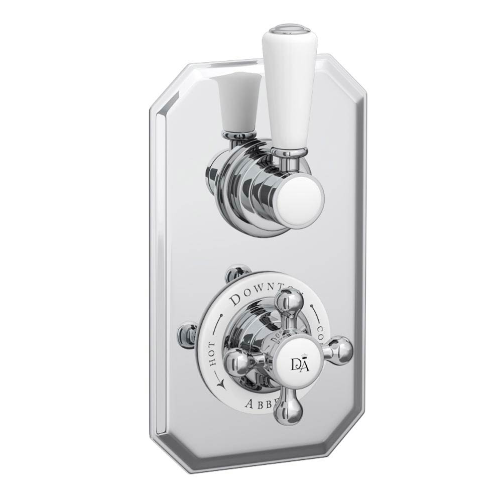 Downton Abbey Twin Concealed Thermostatic Shower Valve profile large image view 1