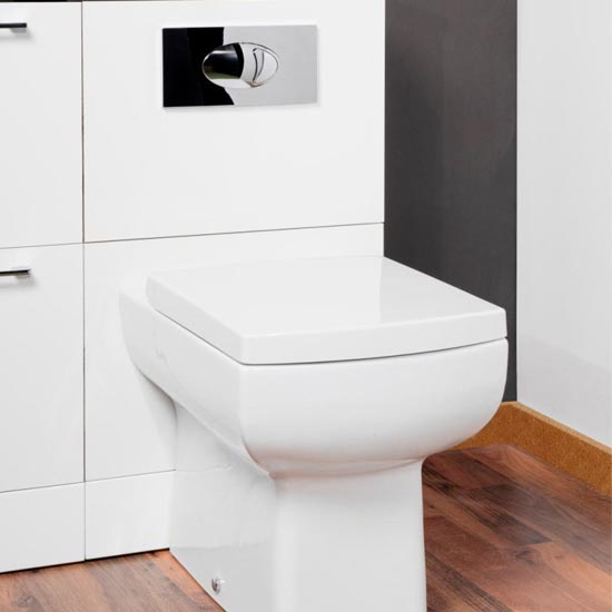 Dual Flush Concealed WC Cistern + Large Chrome Push Button Plate Standard Large Image