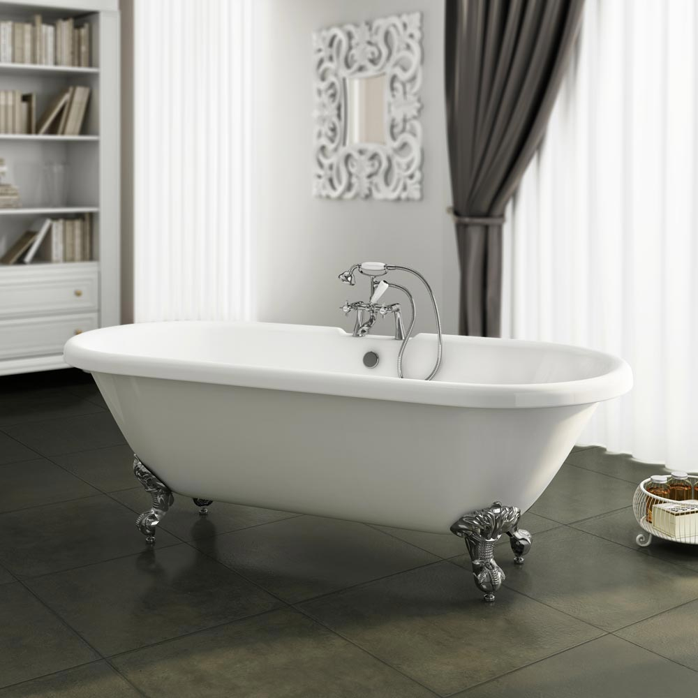 Duke 1695 Double Ended Roll Top Bath Leg Set Victorian