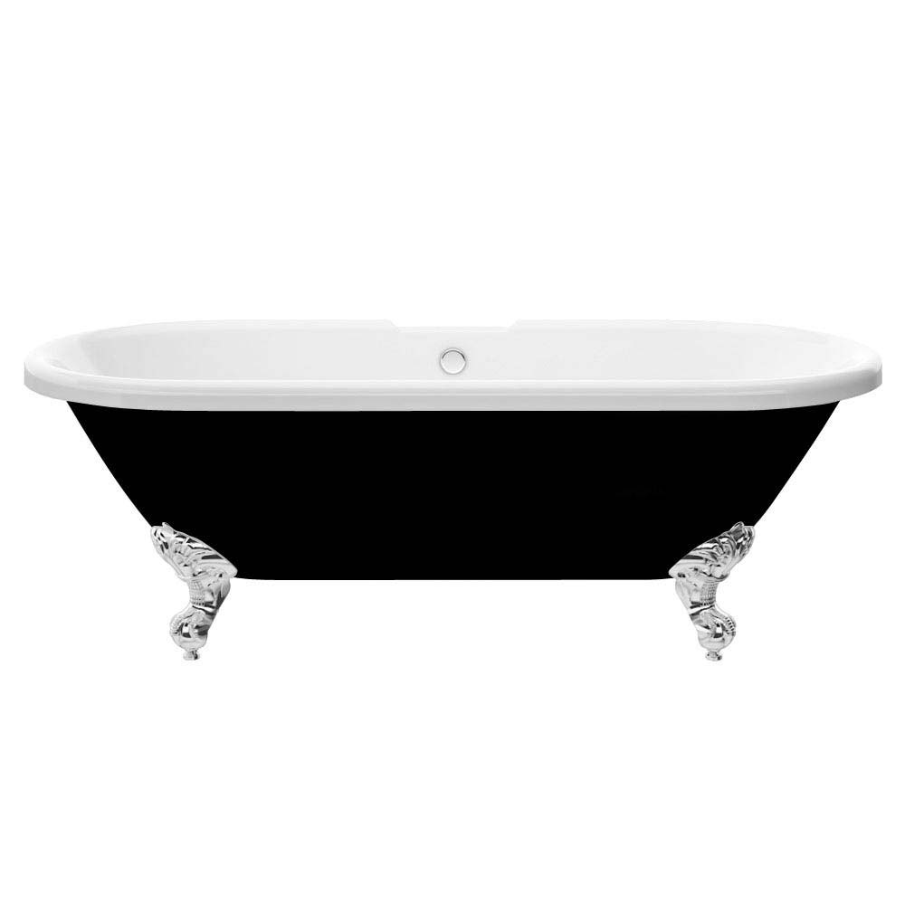 Duke Black 1695 Double Ended Roll Top Bath w. Ball + Claw Leg Set profile large image view 2