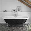Duke Black 1695 Double Ended Roll Top Bath w. Ball + Claw Leg Set profile small image view 1