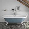 Duke Blue 1695 Double Ended Roll Top Bath w. Ball + Claw Leg Set profile small image view 1