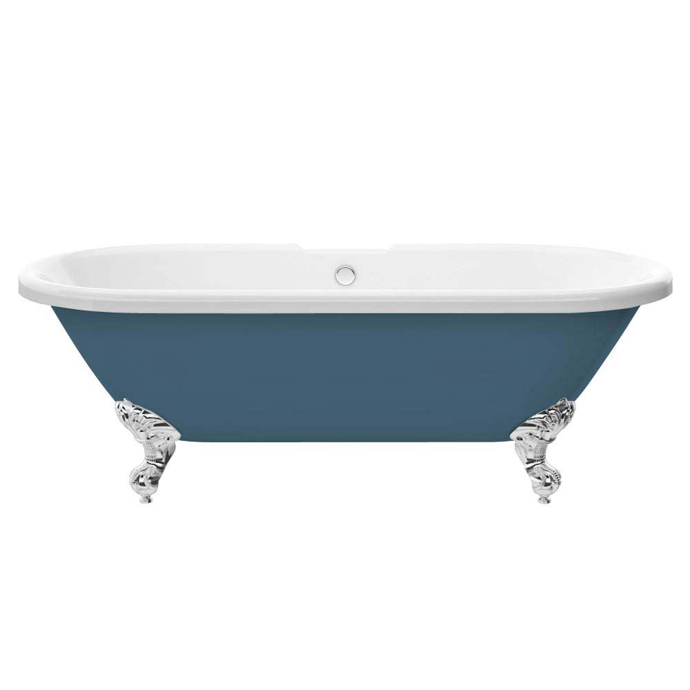 Duke Blue 1695 Double Ended Roll Top Bath w. Ball + Claw Leg Set  Profile Large Image