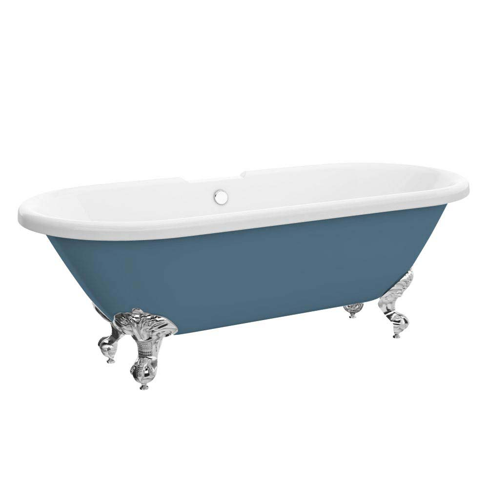 Duke Blue 1695 Double Ended Roll Top Bath w. Ball + Claw Leg Set Large Image