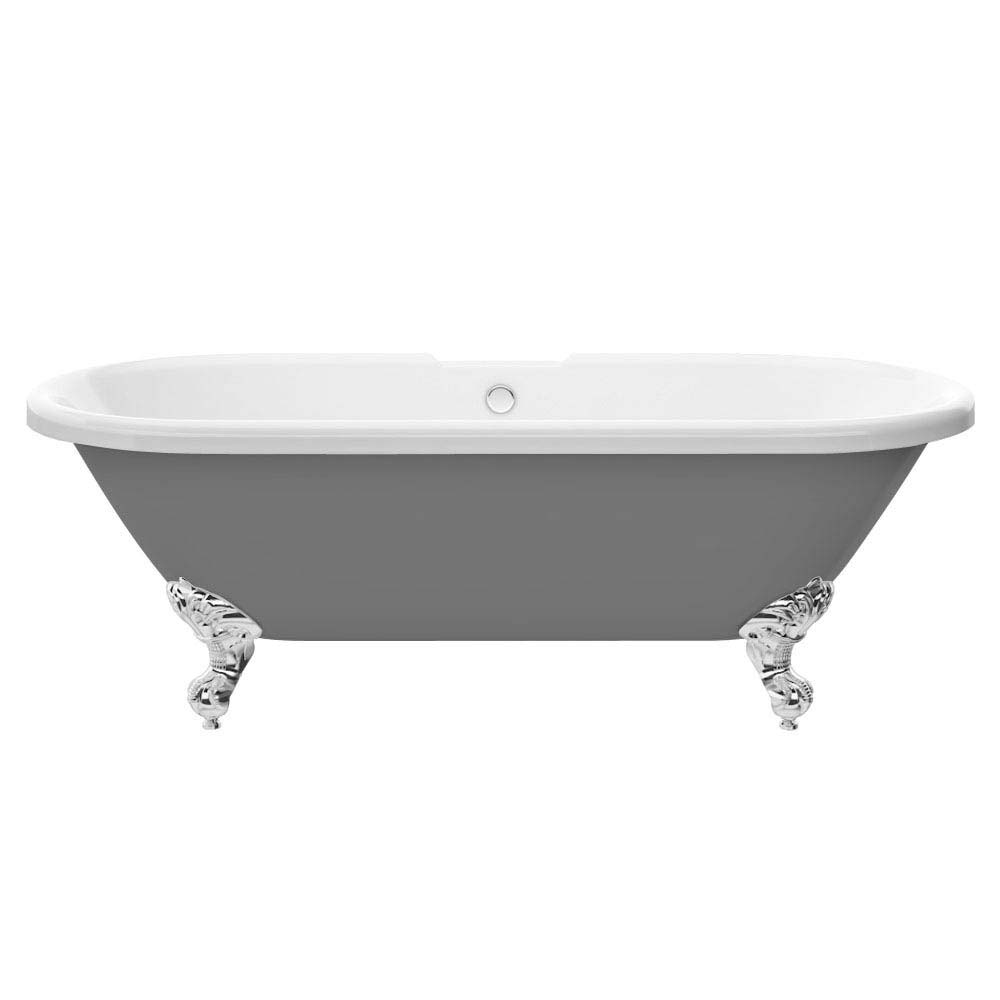 Duke Grey 1695 Double Ended Roll Top Bath w. Ball + Claw Leg Set profile large image view 2