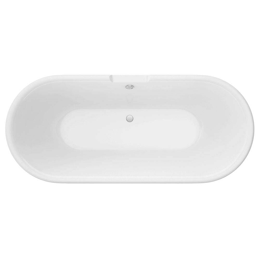 Duke Grey 1695 Double Ended Roll Top Bath w. Ball + Claw Leg Set profile large image view 3