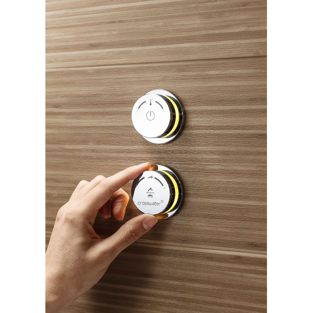 Crosswater Digital Duo 2-Way Processor and Shower Controls with Shower Pump In Bathroom Large Image