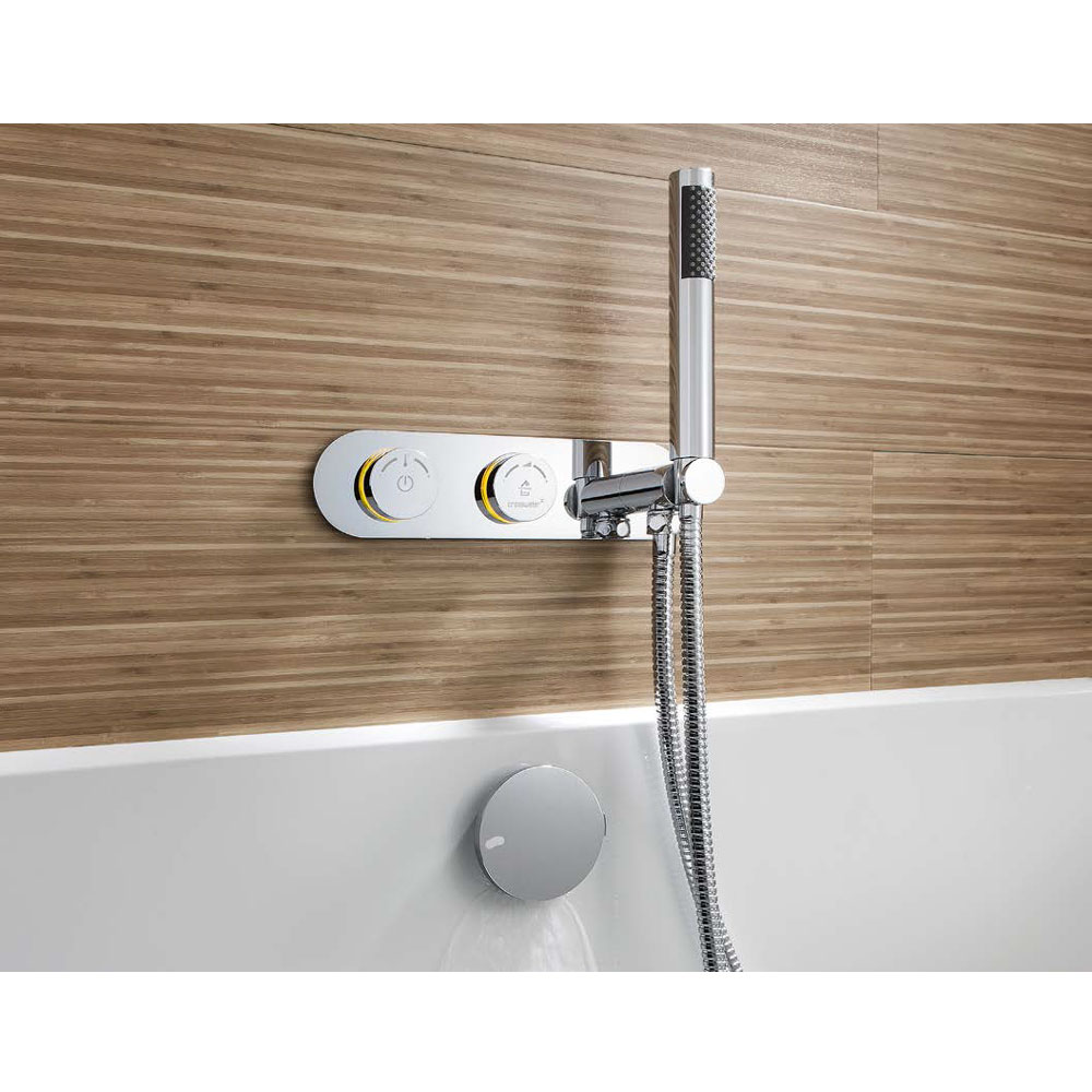Crosswater Digital Cayman Duo Bath with Bath Filler Waste and Shower Handset In Bathroom Large Image