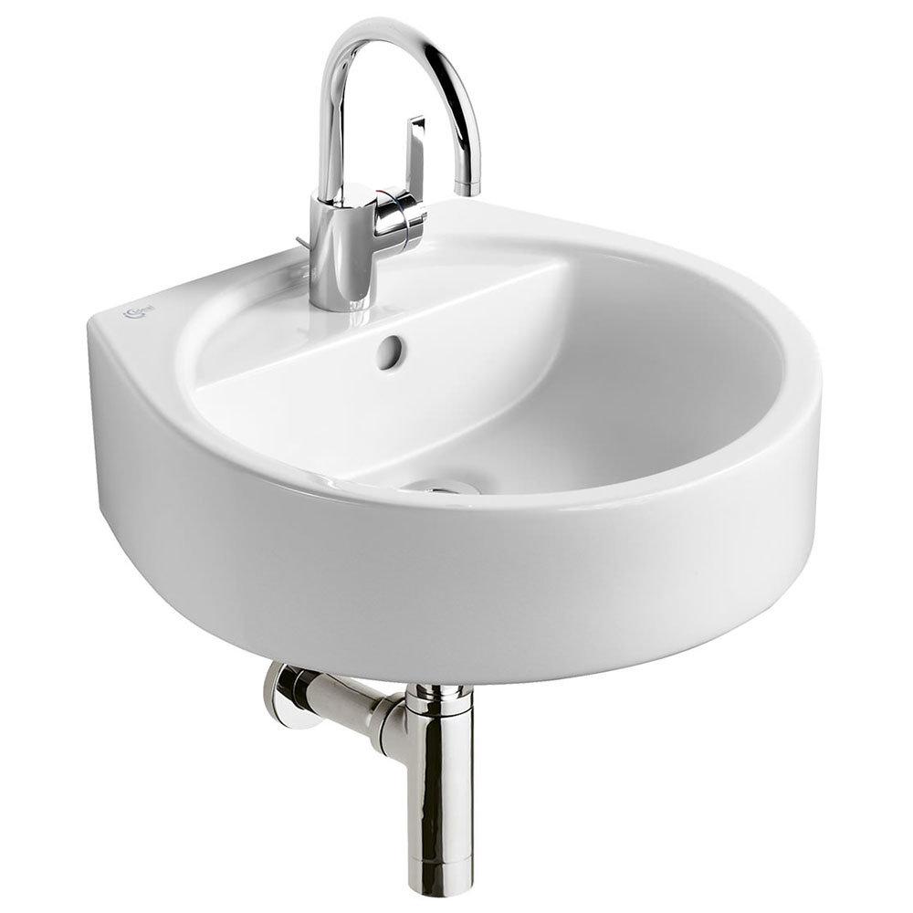 Ideal Standard White Round 50cm 1TH Basin