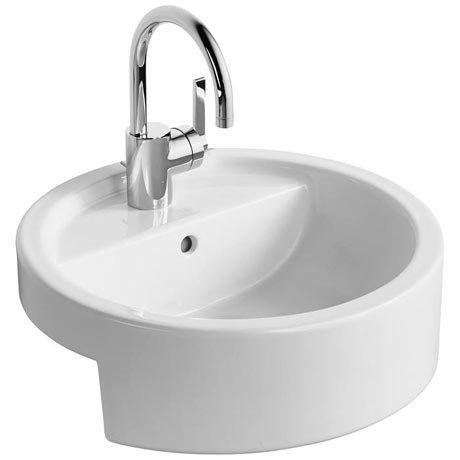 Ideal Standard White Round 45cm 1TH Semi-Countertop Washbasin