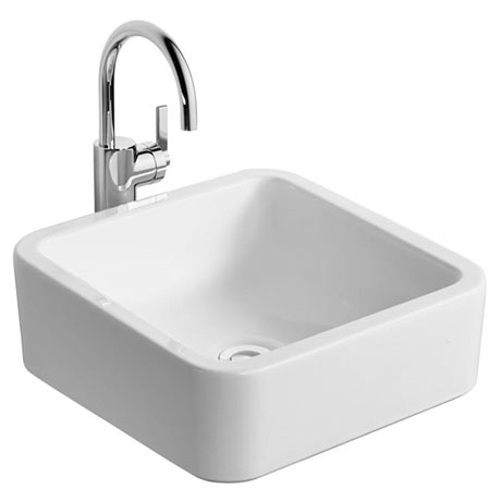 Ideal Standard White Cube 40cm 0TH Vessel Basin