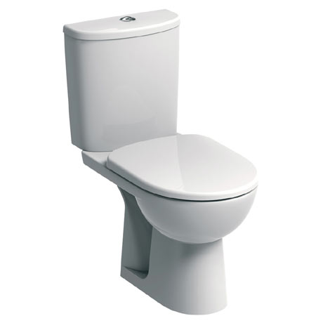 Twyford E100 Round Close Coupled WC + Soft Close Seat